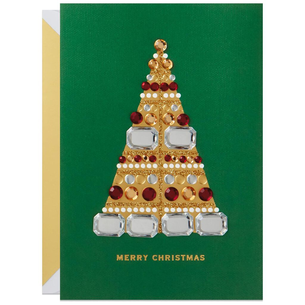 Bedazzled Tree Christmas Card - Greeting Cards - Hallmark