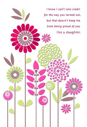 Love You Like a Daughter Mother's Day Card