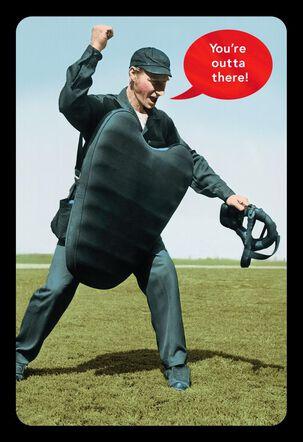 Baseball Umpire Funny Retirement Card