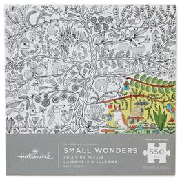 The Art of Hallmark—Small Wonders 550-Piece Coloring Puzzle, , large