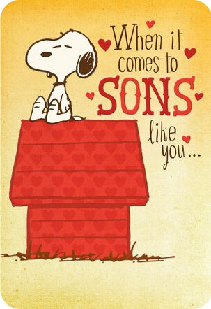Peanuts® Snoopy Sons Like You Valentine's Day Card