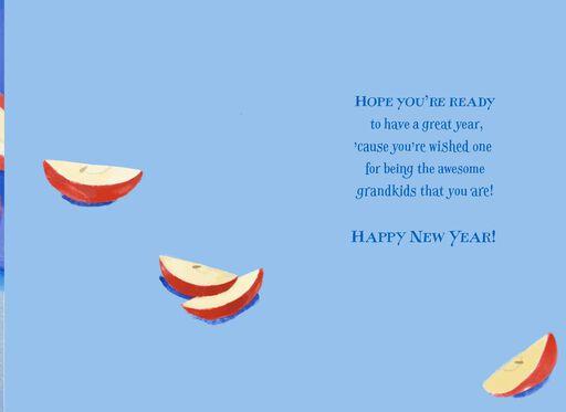 Apples and Honey Rosh Hashanah Card for Grandchildren,