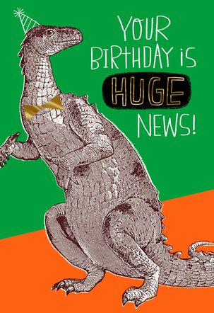 Huge News Birthday Card