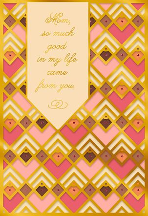 So Much Good Because of You Mother's Day Card