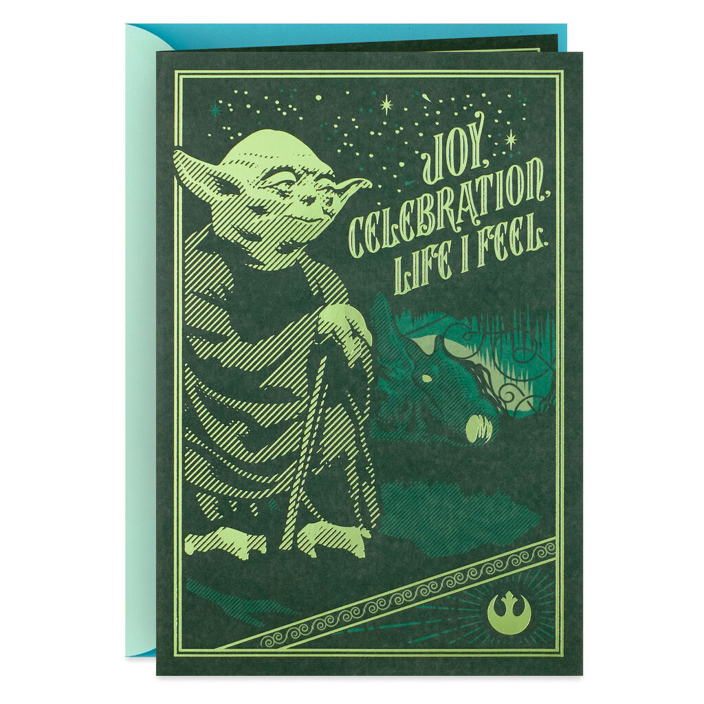 Star WarsTM YodaTM Pop Up Birthday Card