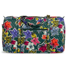 Vera Bradley Large Duffel Bag in Falling Flowers, , large