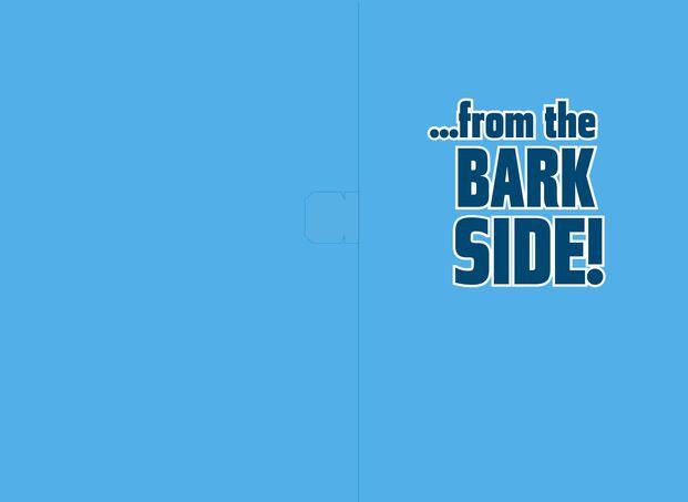 Star WarsTM Darth VaderTM Dog Bark Side Musical Birthday Card