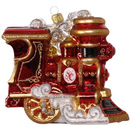 Train Elegant Engine Premium Glass Ornament, , large