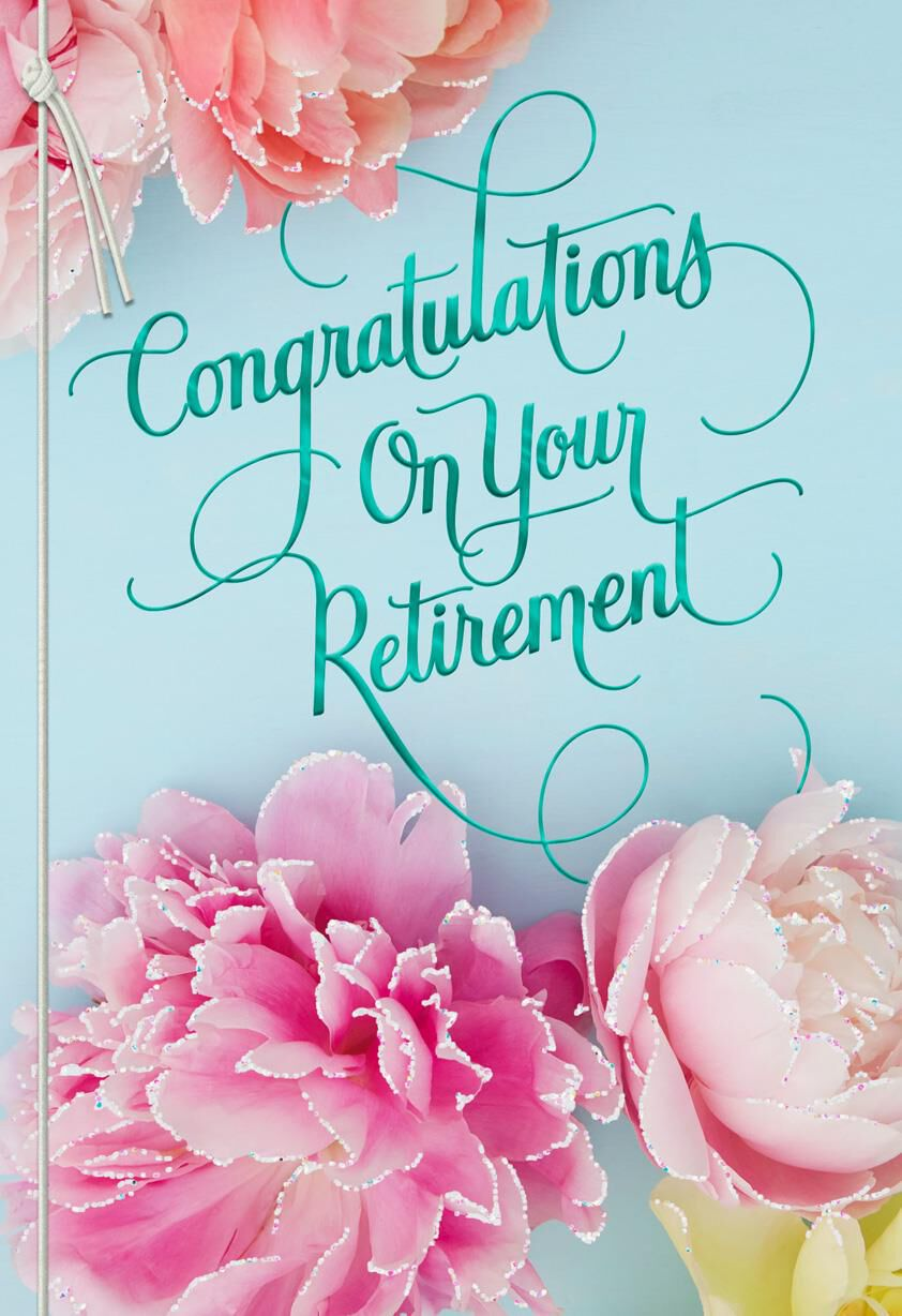 Floral Blooms Retirement Card Greeting Cards Hallmark