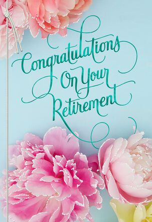 Floral Blooms Retirement Card