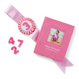 Pink My First Year Monthly Photo Kit and Album, , large
