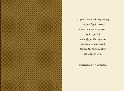 Law Degree Graduation Card,