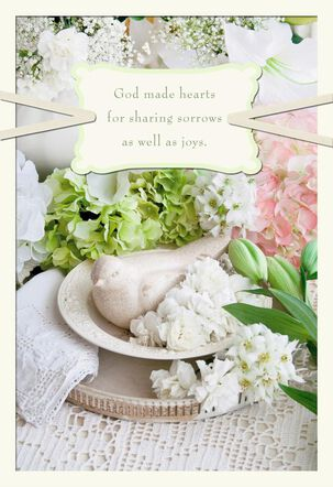 My Heart Is With You Religious Sympathy Card