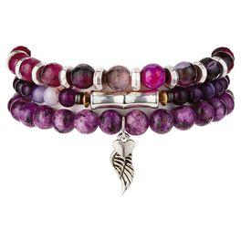 Chavez for Charity Purple Agate Bracelets, Set of 3, , large