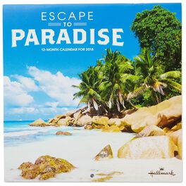 Escape to Paradise 2018 Mini Wall Calendar, 12-Month, , large