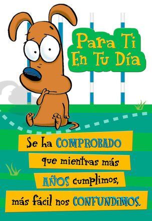 It's a Fact Spanish-Language Birthday Card