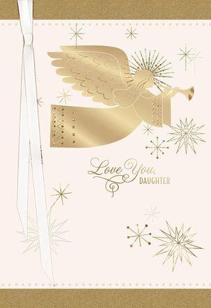 Daughter Christmas Angel Card