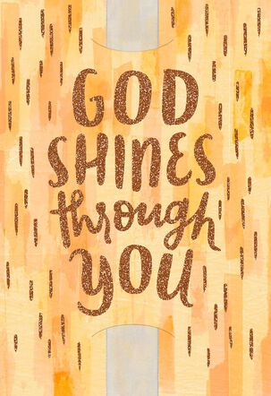 God Shines Through You Clergy Appreciation Card