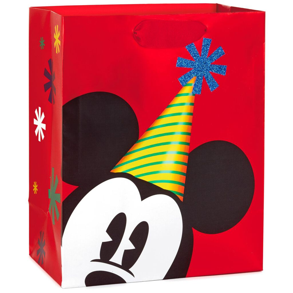 Mickey Mouse In Party Hat Medium Gift Bag