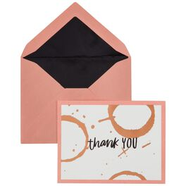 Rose Gold Rings Thank You Notes, Set of 10, , large