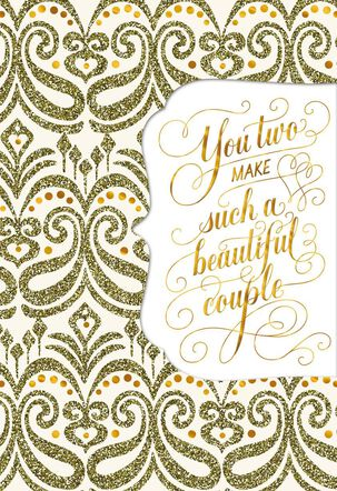 Golden Couple Wedding Card