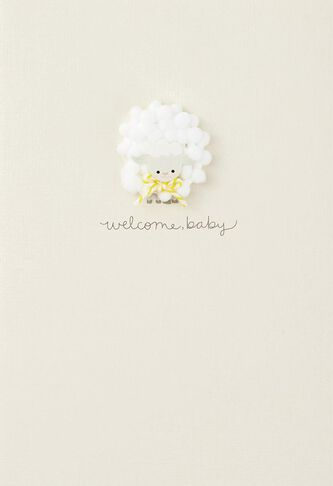 welcome baby congratulations card