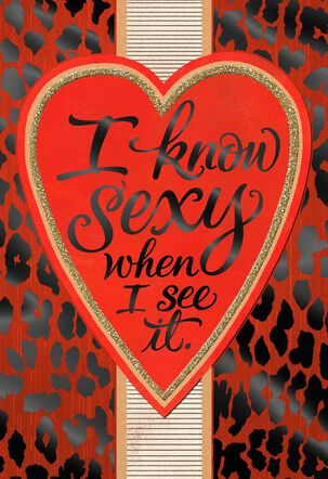 I Know Sexy Valentine's Day Card