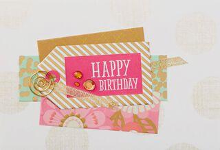 Amazing Girl Gift Tag Birthday Card,