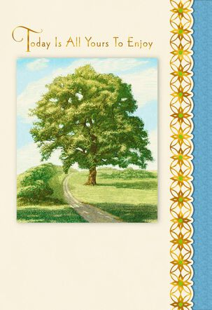 Today Is All Yours Tree Birthday Card