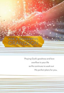 You Are a Blessing Religious Graduation Card for Grandson,