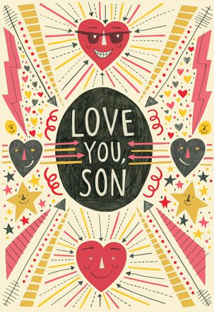 Everyday Love for Son Valentine's Day Card