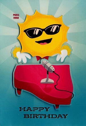 Sun Musical Birthday Card With Motion
