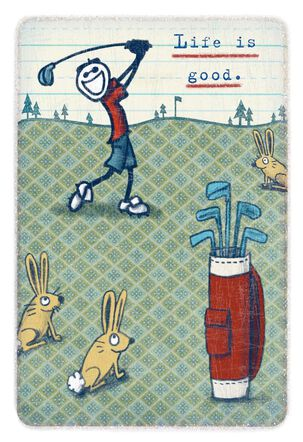 Life is Good® Happy Golfer Father's Day Card