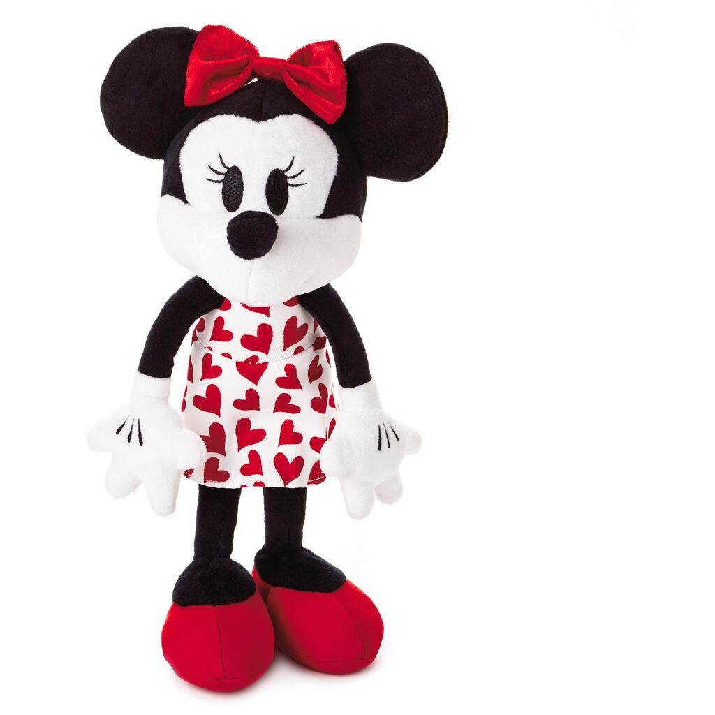 Disney Minnie Mouse In Red Heart Dress 14 Classic Stuffed