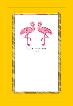 Flamingos Blank Thinking of You Card