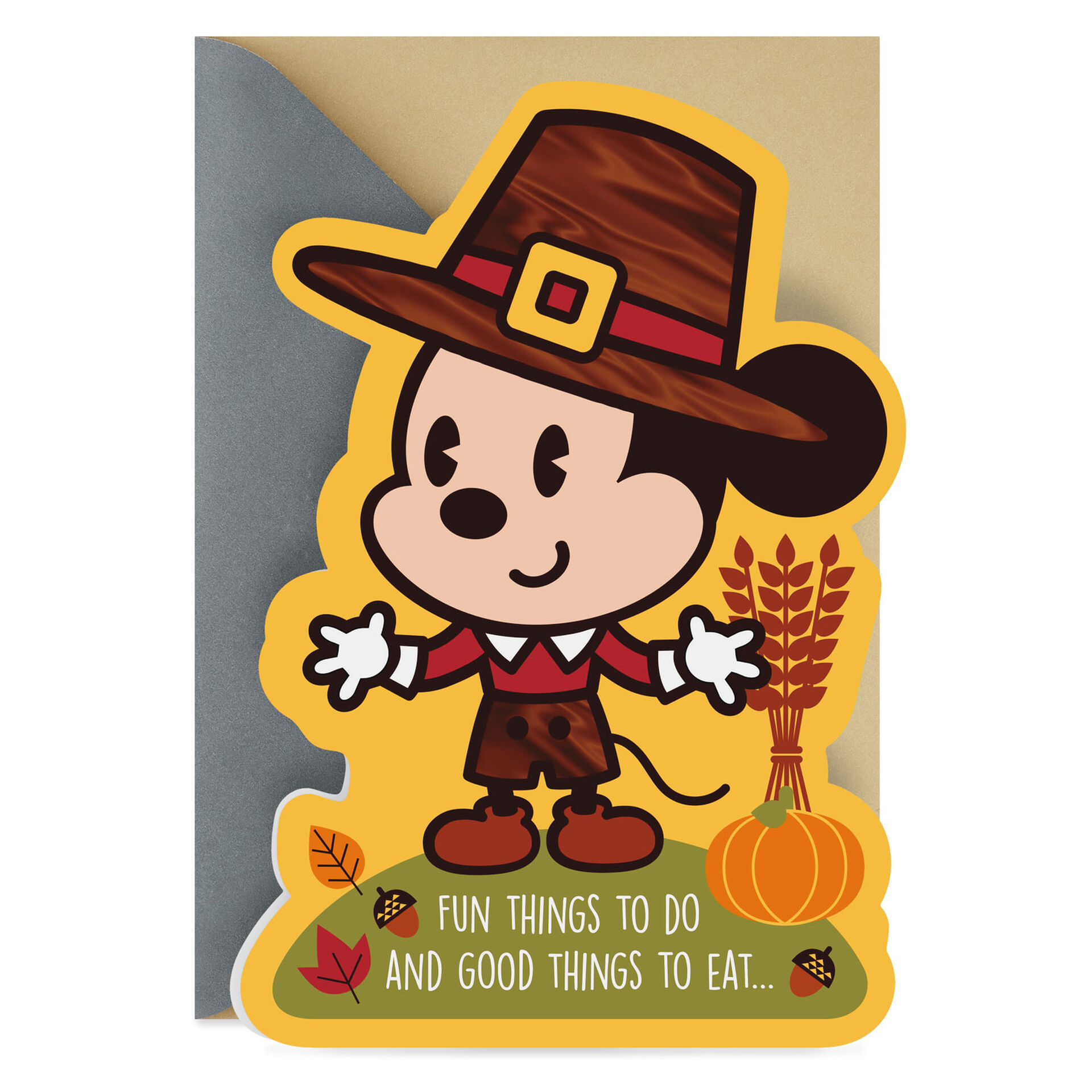 Disney Mickey Mouse The Happiest Treats Thanksgiving Card Greeting Cards Hallmark
