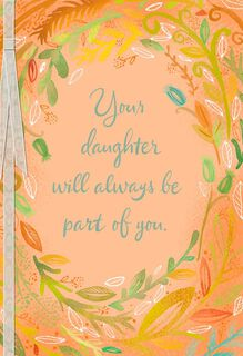 Ring of Leaves Loss of Daughter Sympathy Card,