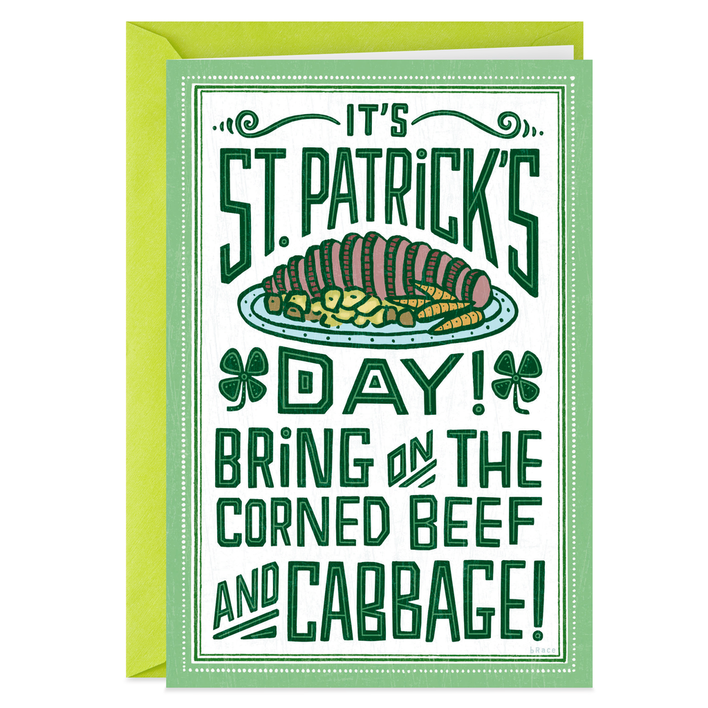 More Green Beer Less Cabbage Funny St Patricks Day Card