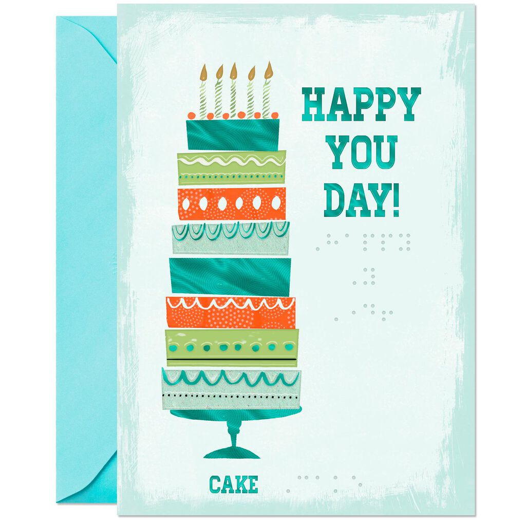 Happy You Day Braille Birthday Card