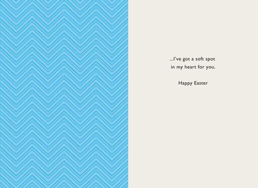 Cute Bunny Face Easter Card,