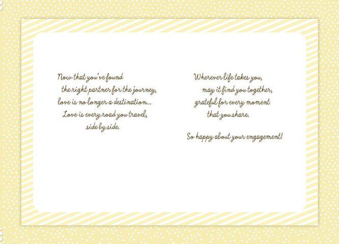 Hot Air Balloons Engagement Card Greeting Cards Hallmark