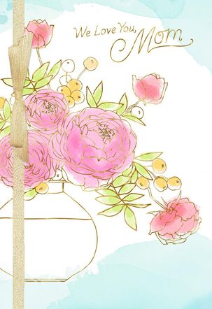 Flower Vase Mother's Day Card From All