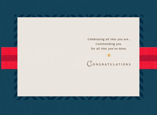 Honor, Courage, Integrity Military Congratulations Card,
