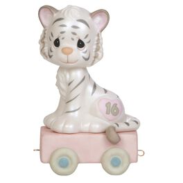 Precious Moments® 16 and Feline Fine White Bengal Tiger  Figurine, Age 16, , large