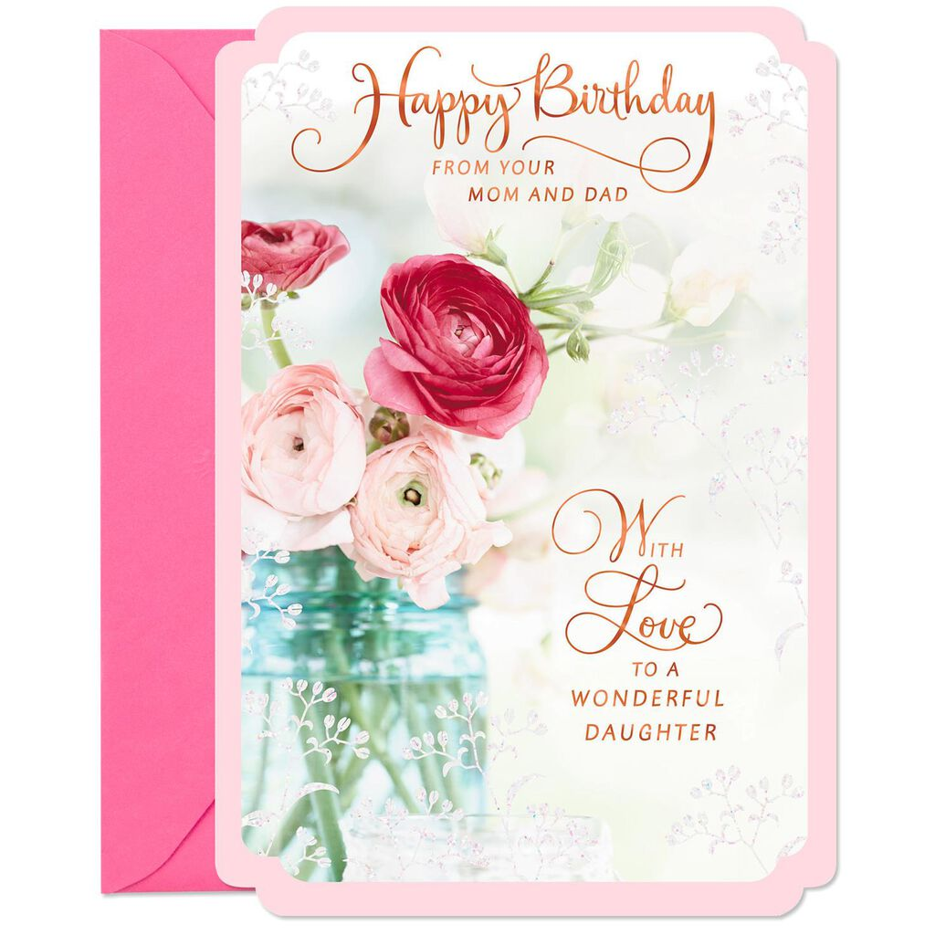 Wishes For A Wonderful Daughter Birthday Card From Mom And Dad