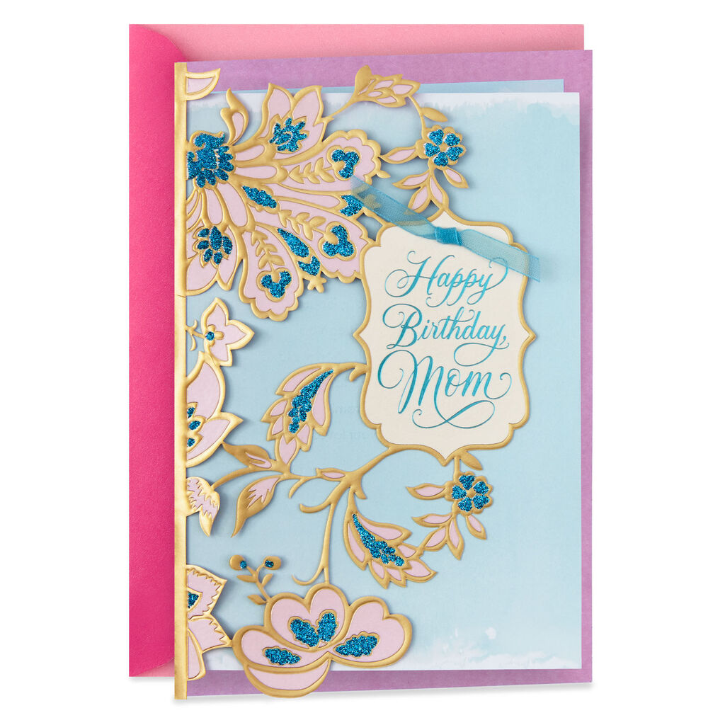 Grateful To Be Your Daughter Birthday Card For Mom