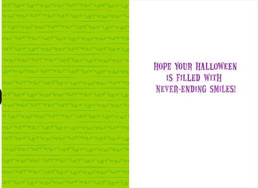 itty bittys® Mickey & Minnie Paper Pumpkin Chain Halloween Card,
