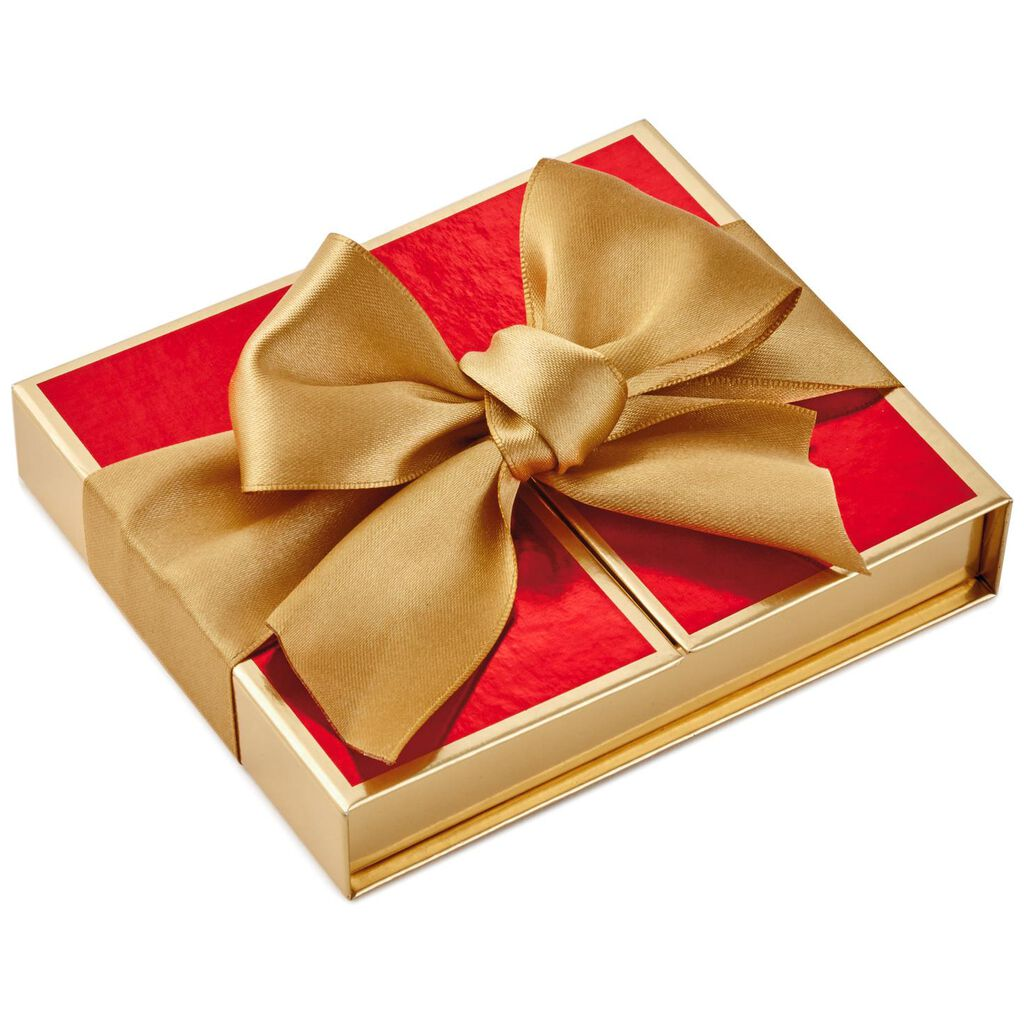 Red With Gold Bow Gift Card Holder Box 5 25 Gift Card Holders