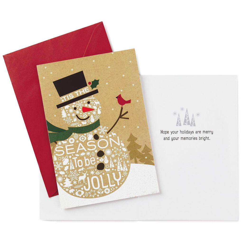 Season to Be Jolly Snowman Christmas Cards, Box of 16 - Boxed Cards ...