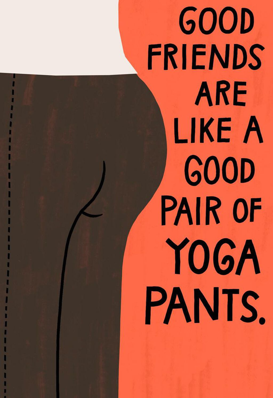 Yoga Pants Funny Birthday Card Greeting Cards Hallmark